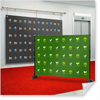 8' x 8' Step and Repeat Banners