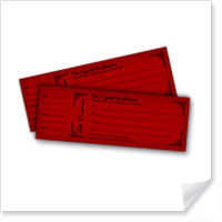 2.5 x 7 Gift Certificates