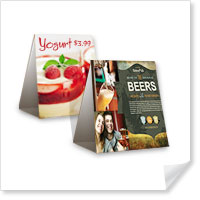 4 x 6 Vertical Table Tents