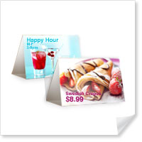 7 x 5 Horizontal Table Tents
