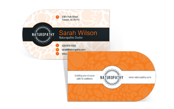 Half Circle Business Cards by NextDayFlyers