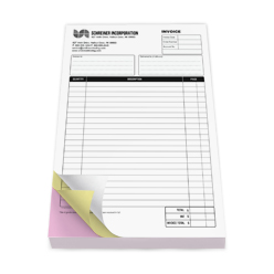 Half Page Carbonless Forms - 8.5 x 14