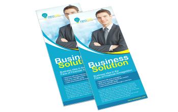 Business Flyers - 1/2 Page Wide
