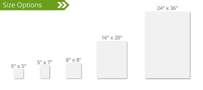 Window Cling Size Options