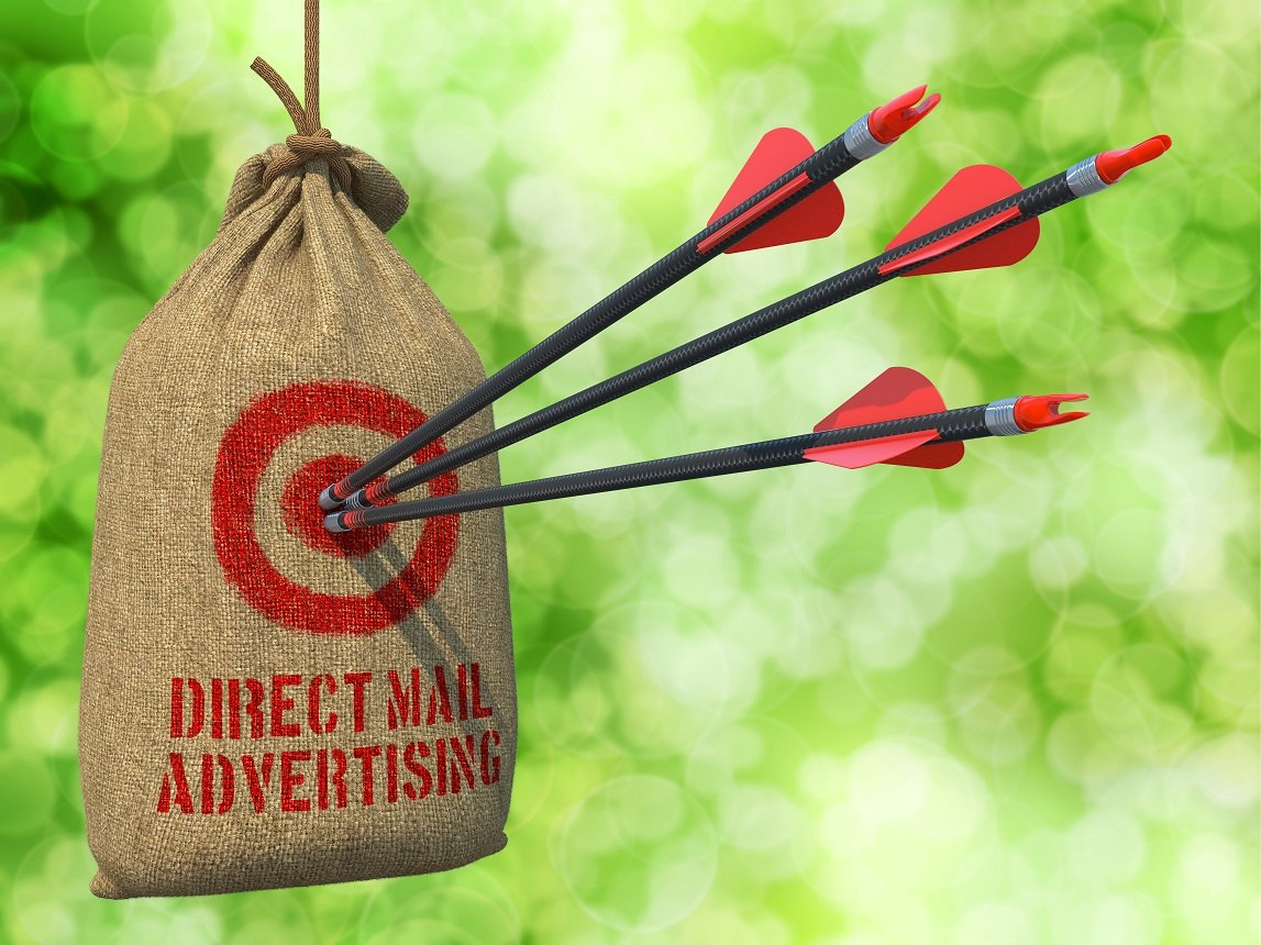 direct mail marketing - arrows hitting target