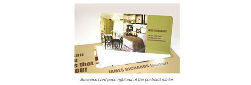 Perf Out Business Card Mailer