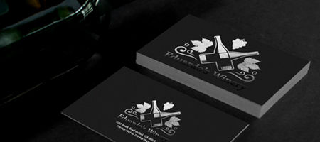 Foil business cards gold silver copper stamped nextdayflyers foil business card printing reheart Gallery