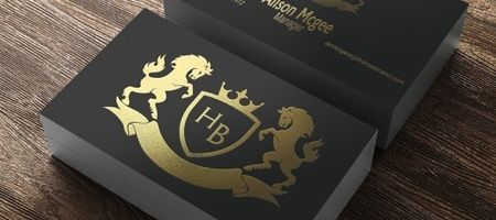foil business card printing - Photo Business Cards