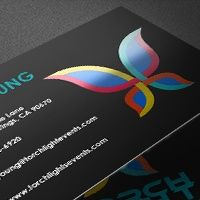 Fast business card printing personalized call cards nextdayflyers metallic colourmoves