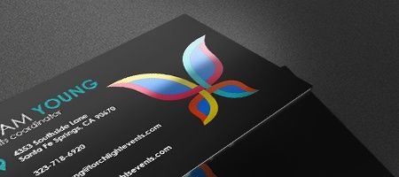Metallic Print Business Cards