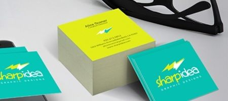 Print square business cards with same day turnaround nextdayflyers square business cards colourmoves