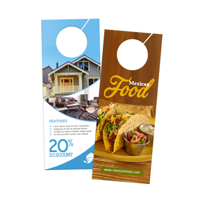 Door Hangers door hanger printing - get same or next day with nextdayflyers