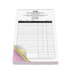 Full Page Carbonless Forms - 8.5 x 11