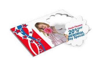 Die cut printing speciality die cuts from next day flyers flower die cut postcards reheart Gallery