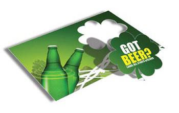 Shamrock Cut Postcards