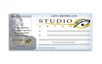 4 x 9 Gift Certificates