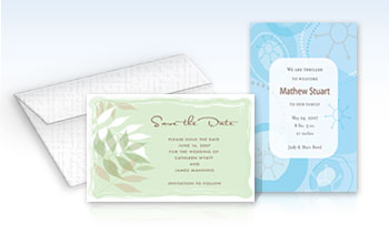 Printed Invitations - 5.5 x 8.5