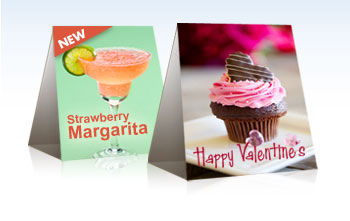 4.25 x 6 Table Tents Printing - Quality Restaurant Tent Cards