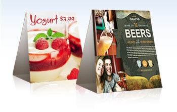 4 x 6 Table Tents Printing - Tent Cards, Restaurants, Trade Shows