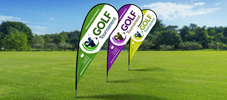 Order Custom Teardrop Flags for your Promotional Banner Needs